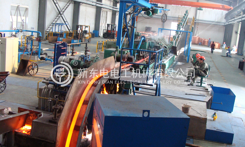A 4+8 Hypoxia Copper Rod Continuous Casting