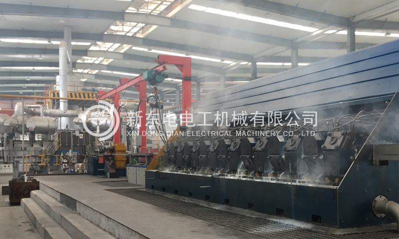 Al-Alloy Continuous Casting and Rolling Line
